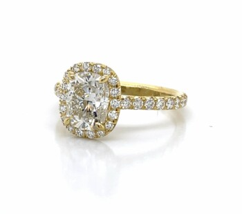 Yellow Gold Elongated Cushion-Cut Ring
