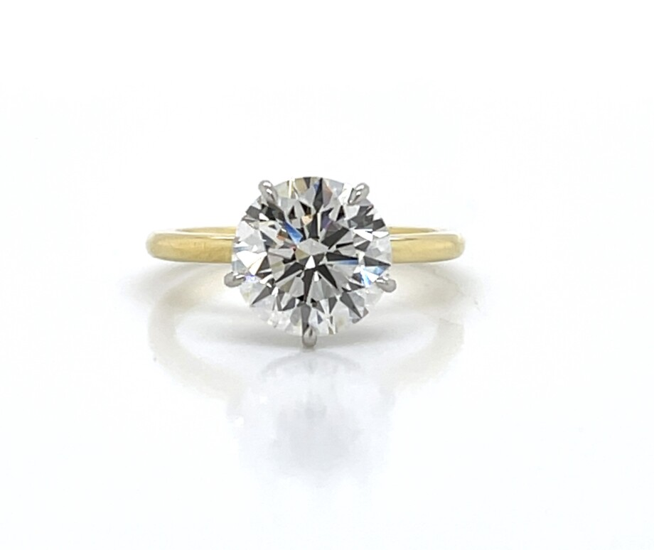 Five-Prong Two-Tone Engagement Ring